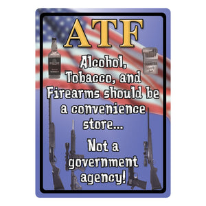 TIN SIGN 12IN X 17IN - ATF