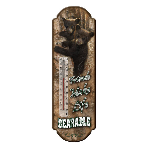 TIN THERMOMETER - BEAR