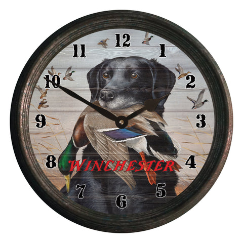 CLOCK 15-INCH - BLACK LAB