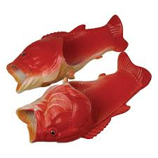 FISH SANDALS, RED SNAPPER, CHILD LARGE
