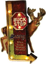 LED BAR SIGN - BUCK STOP