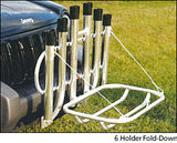 6 Holder Fold Down Rod Rack