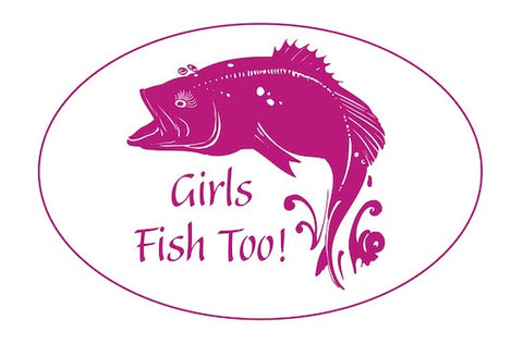 "Fisherwomen's Vinyl Window Decal-""Girls Fish Too"""