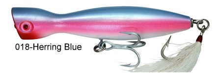 Super Strike 2 3/8 oz Little Neck Popper Herring Blue