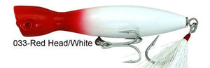 Super Strike Little Neck Popper  2-3/4oz Red Head/White