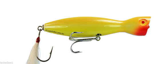 Super Strike Little Neck Popper  2-3/4oz All Yellow - JJSPORTSFISHING.COM
