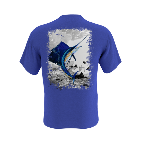 Men's Leaping Sailfish Short Sleeve Pocket T-Shirt