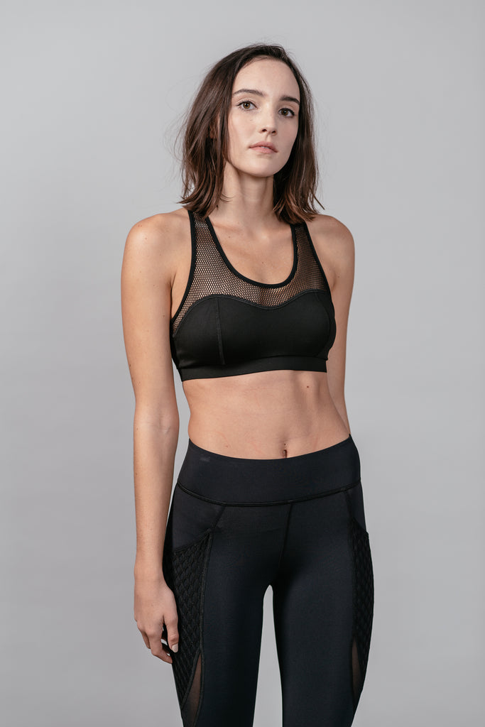 Michi Antigravity Bra Black Front View