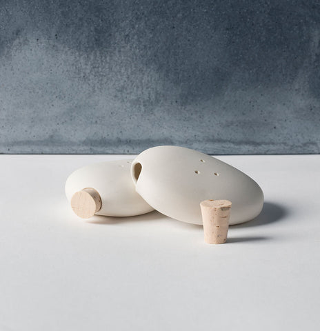 Pebble Salt and Pepper Shakers