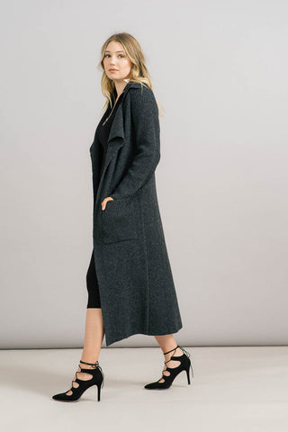 Chunky Ribbed Sweater Coat