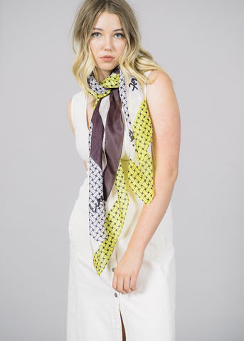 Lacey Printed Silk Scarf