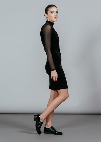 Campbell Velour L/S Dress