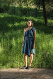 Designers Remix Kelsey One Shoulder Denim Dress Front