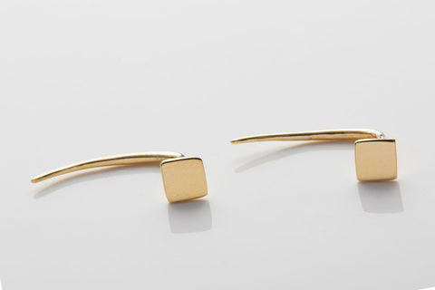 Square Infinite Tusk Earrings
