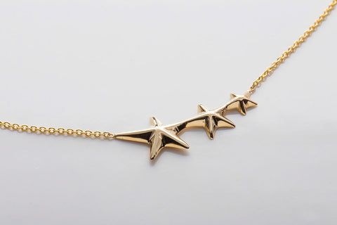 Triple Shooting Star Necklace
