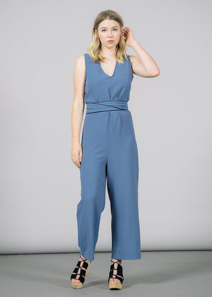 88598939aa16 Clark V-Neck Jumpsuit by Ganni Main View ...