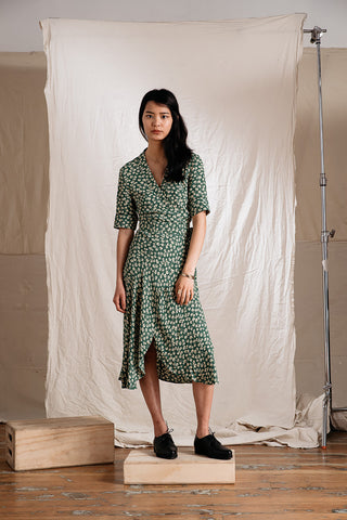 Dalton Crepe Wrap Dress