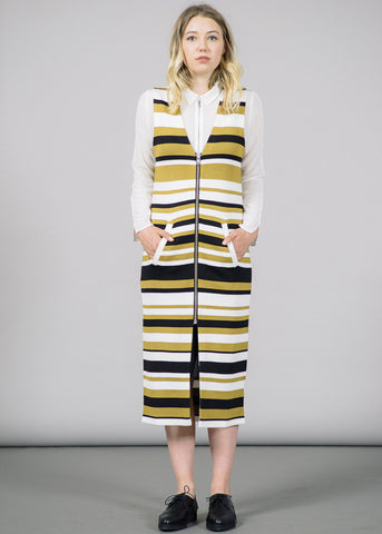 Francis Zip-Up Stripes Dress