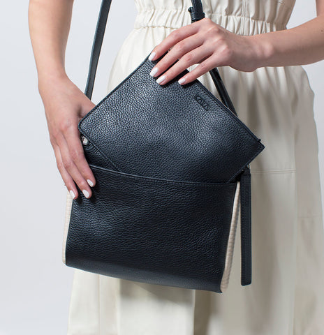 Large Stowaway in Embossed Lambskin