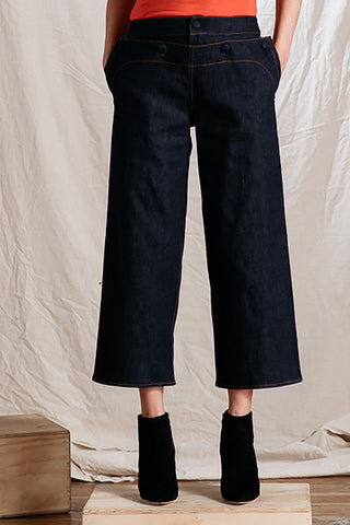 Crop Sailor Denim Pant