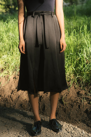 Waterfall Slitted Midi Skirt