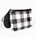 Gingham Pyramid Wristlet by KARA Bags Alt View
