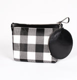 Gingham Pyramid Wristlet by KARA Bags Main View
