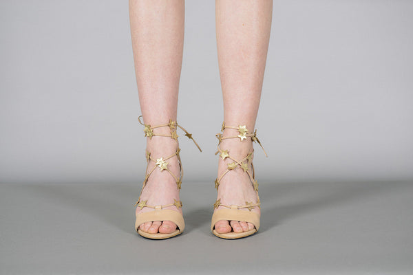 a69b2dd31ea ... Arielle Star Lace Up Sandals By Loeffler Randall Front View ...