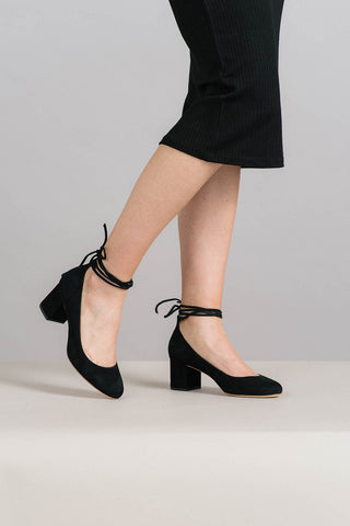 Clara Ankle Wrap Pumps