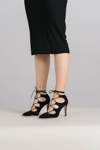 Delfine Lace Up Heels