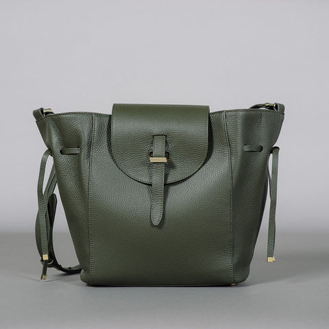 The Fleming Medium Military Calf Bag