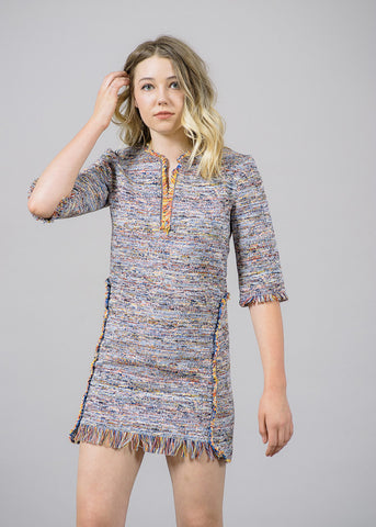 Dakota Ethnic Woven Mini Dress