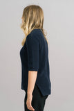 Just Female Ashley Knit Blouse in Blue Side