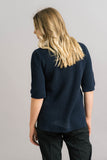 Just Female Ashley Knit Blouse in Blue Back