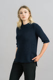 Just Female Ashley Knit Blouse in Blue Tilt