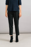 Achro Pull On Trousers in Black Front Detail