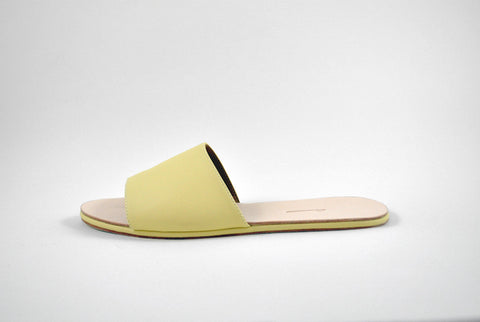 Caelum Slide Sandal in Yellow