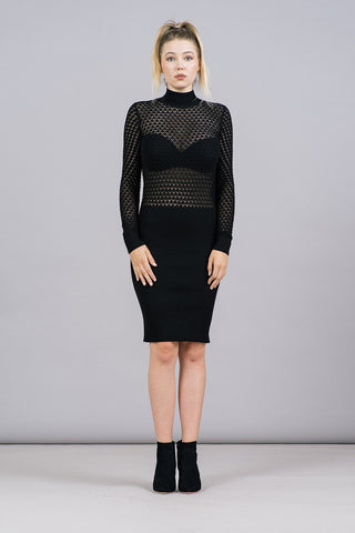 Elena See-Through Knit Dress