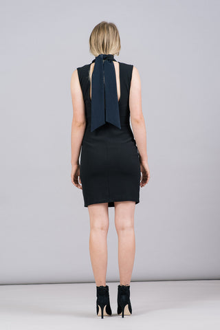 Samuel Sleeveless Mock-Neck Dress