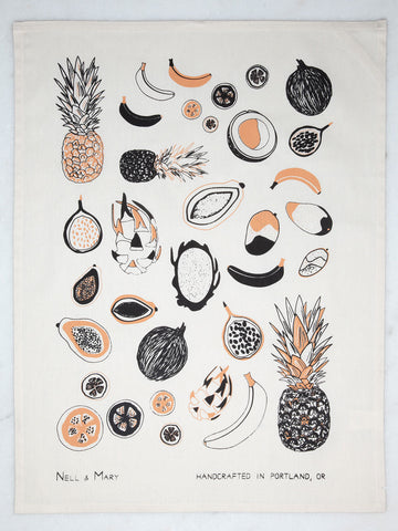 Tropical Fruit Tea Towel