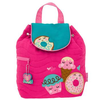 Monogrammed Donut Backpack