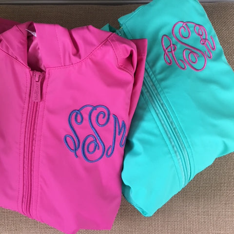 Youth Monogrammed Raincoat