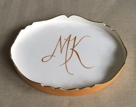 Hand Painted Oval Trinket Trays