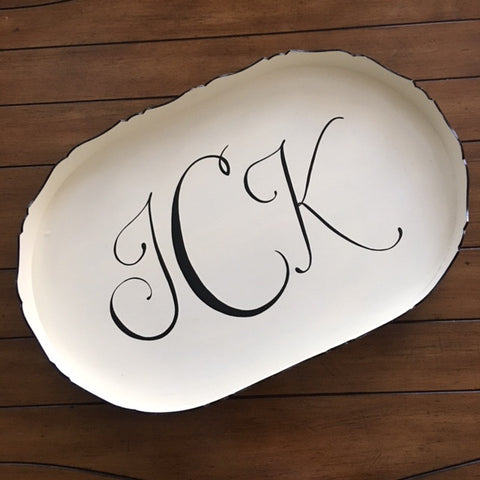 Hand Painted Large Oval Tray