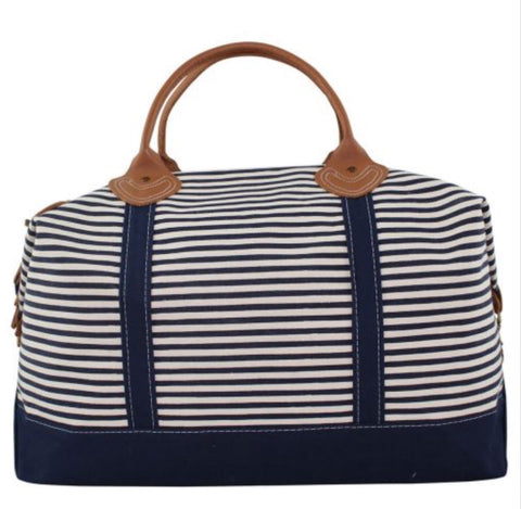 Striped Weekender Bag