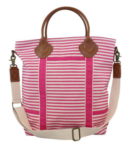 Striped Travel Tote