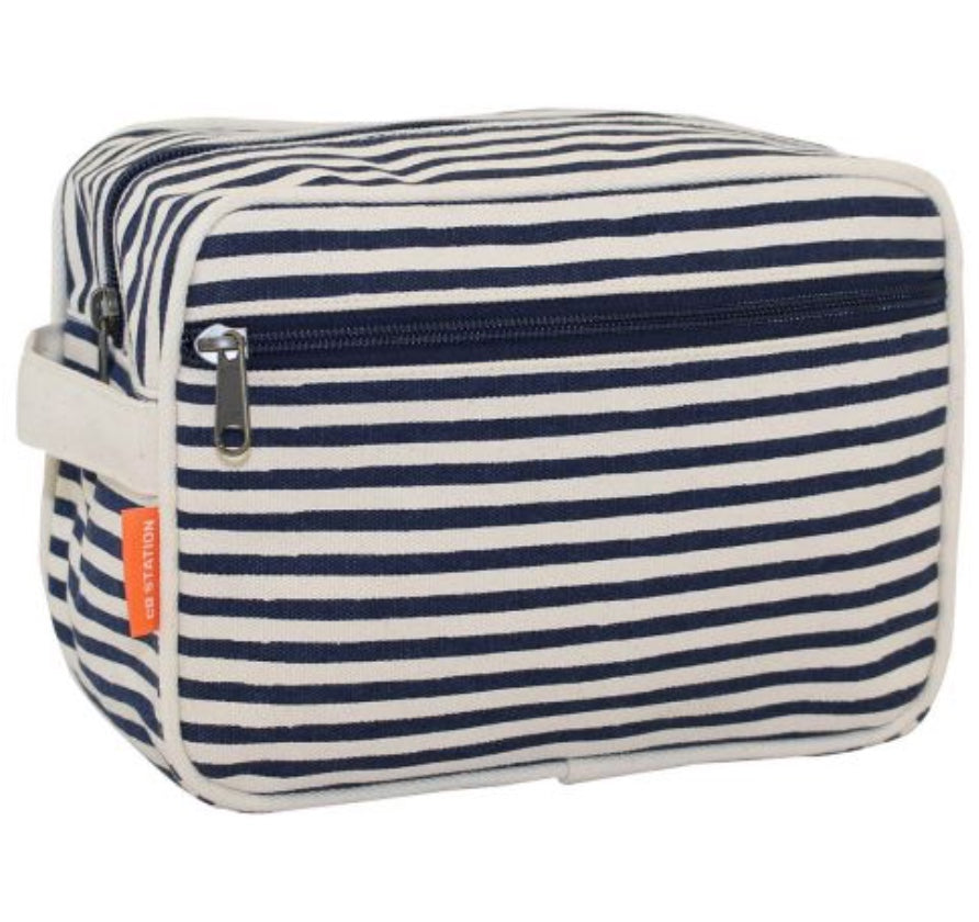 Striped Toiletry Case