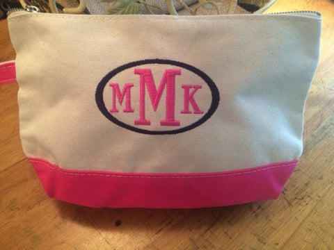 Canvas Makeup Bag