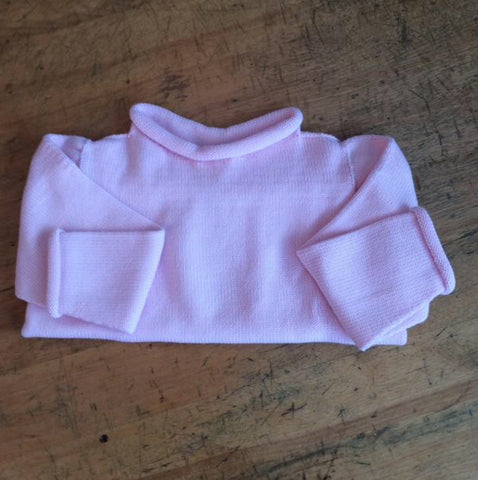 Lt. Pink Roll Neck Sweater
