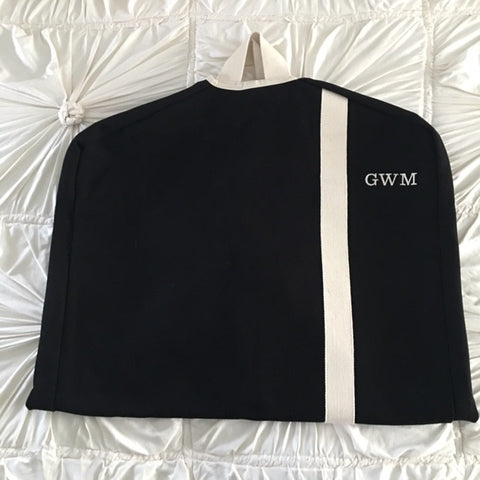 Canvas Monogrammed Garment Bag
